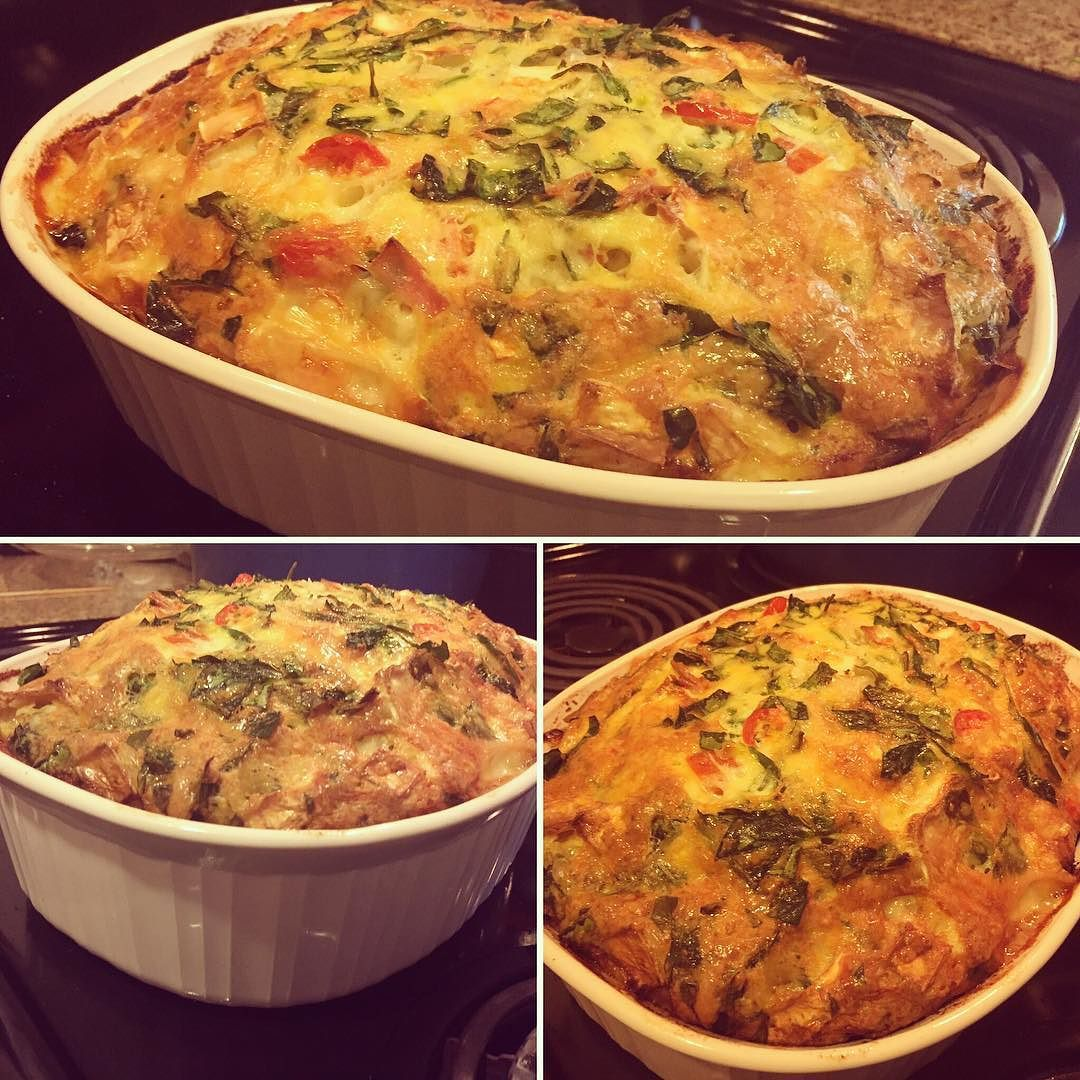 Ham Brie & Spinach Breakfast Bake! #soulcoaching #foodforthesoul #lowcarb #gratitude