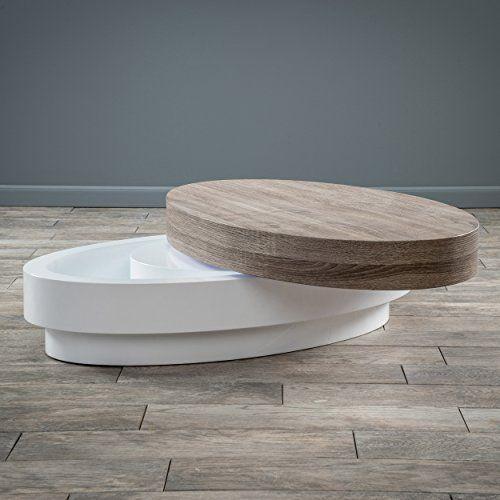 Arlo Oval Mod Swivel Coffee Table Oval Coffee Tables Coffee Table With Storage Coffee Table