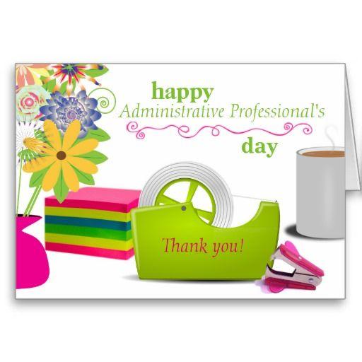 administrative professional's day card  zazzle