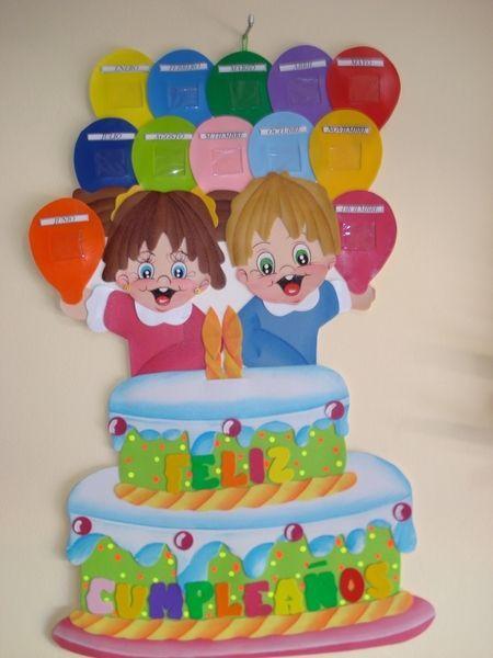 cumpleaños decorar con fomix - Buscar con Google