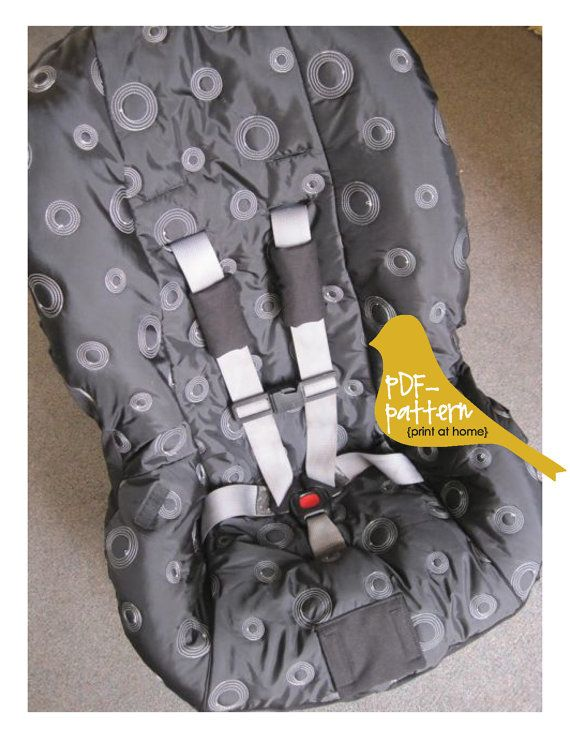 Toddler Car Seat Cover PDF (INSTANT DOWNLOAD Sewing Pattern)