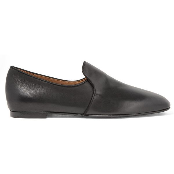 Charlotte Olympia Black BIRKENSTOCK Edition Leather Boston Slip-On Loafers Kxo09WGsEh