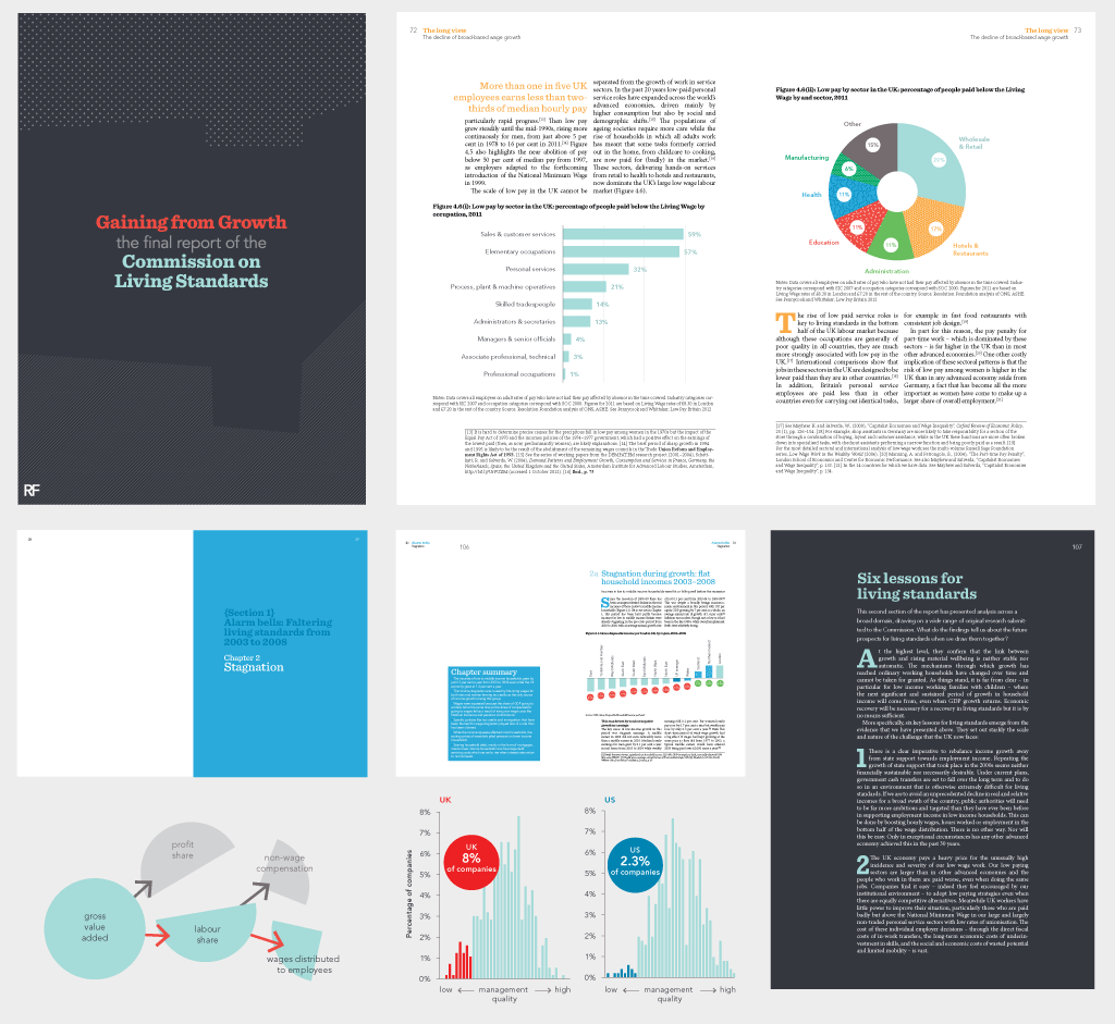report design for the Commission on Living Standards | annual ...