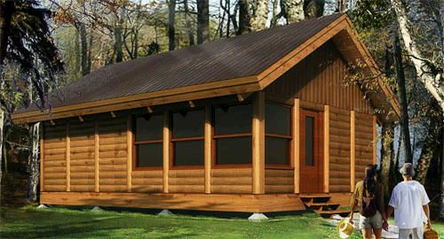 Woody Bufton Log Cabin Kit Only At Menards Little Cabin In The