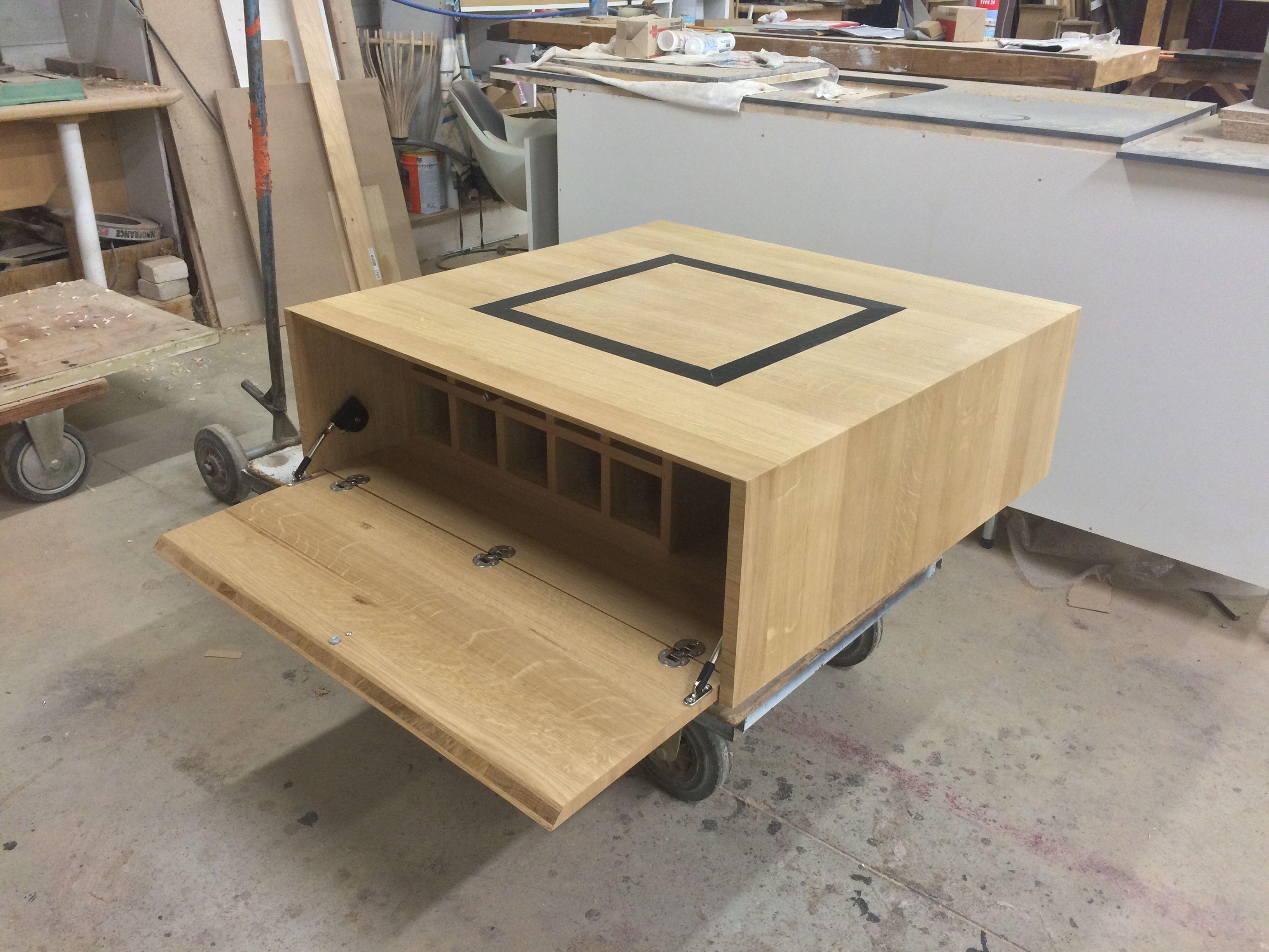 Basse Chêne Intégré Massif Bar De Mini Espace En Et Avec Table PnwXO80k