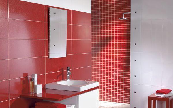 Carrelage Faïence mural effet pailleté Fiber de Tau Ceramica   Bagni rossi, Arredamento, Bagno