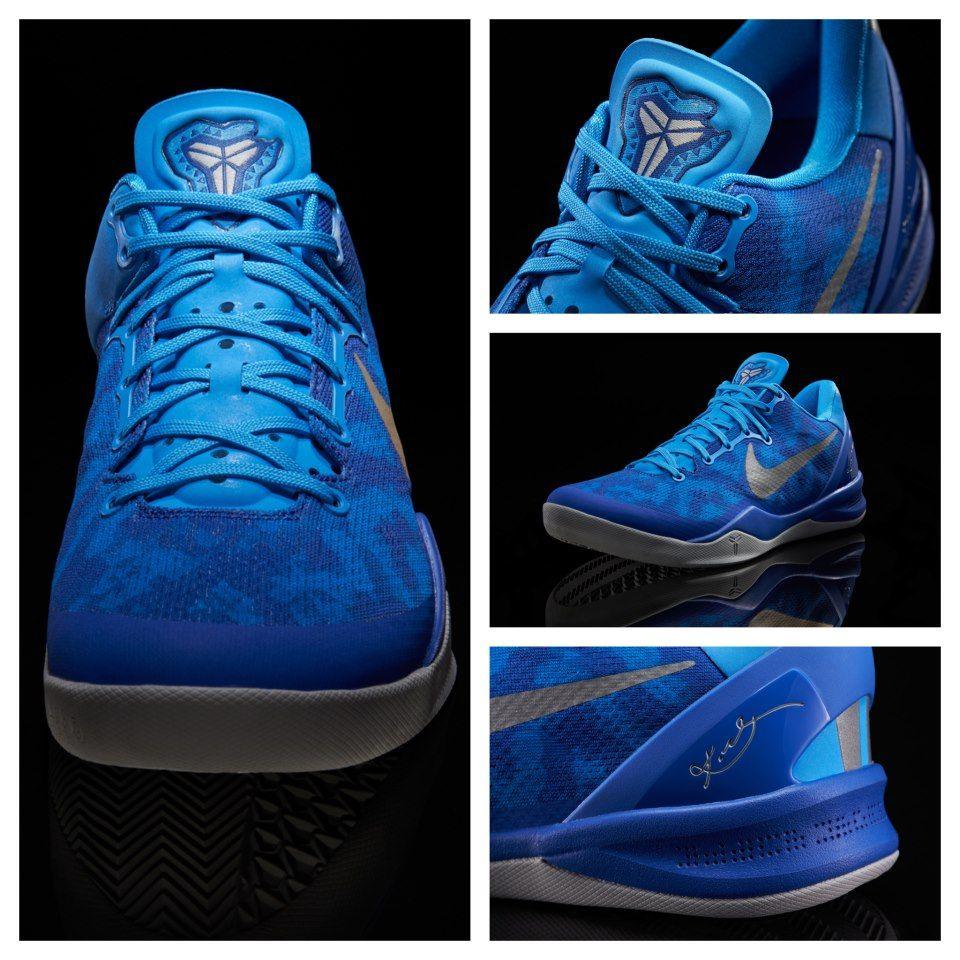 KOBE 8 BLUE SNAKE   Foot locker, Custom