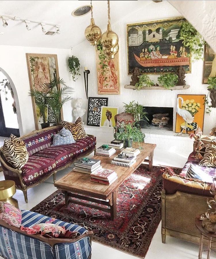 Small Eclectic Living Room Decorating Ideas: Rug, Art And Plant Orientation. In 2019
