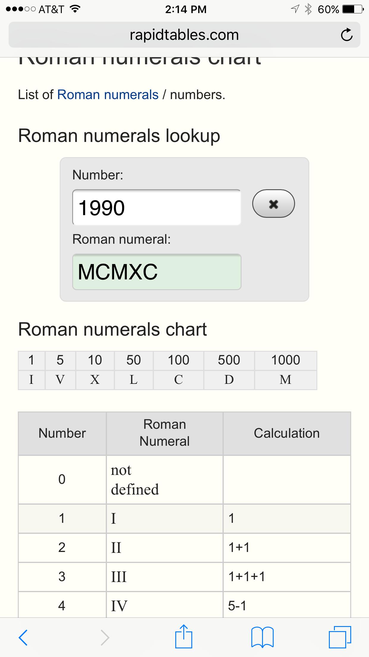 Roman Numeral
