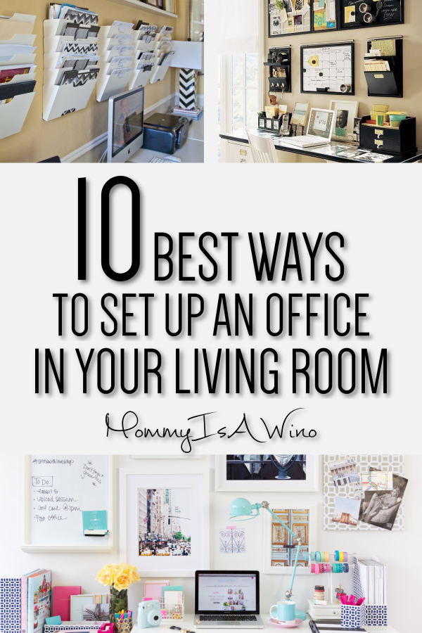 10 Creative Living Room Office Ideas Mommy Thrives Home Office