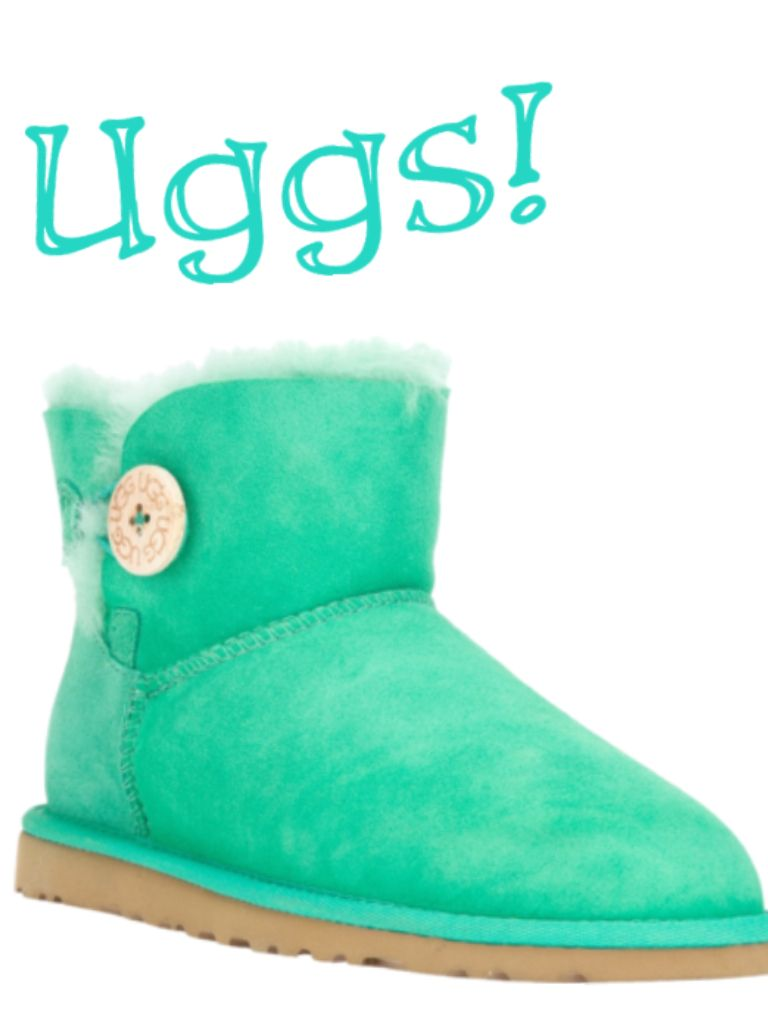 Mint Green Bailey Button Mini Uggs