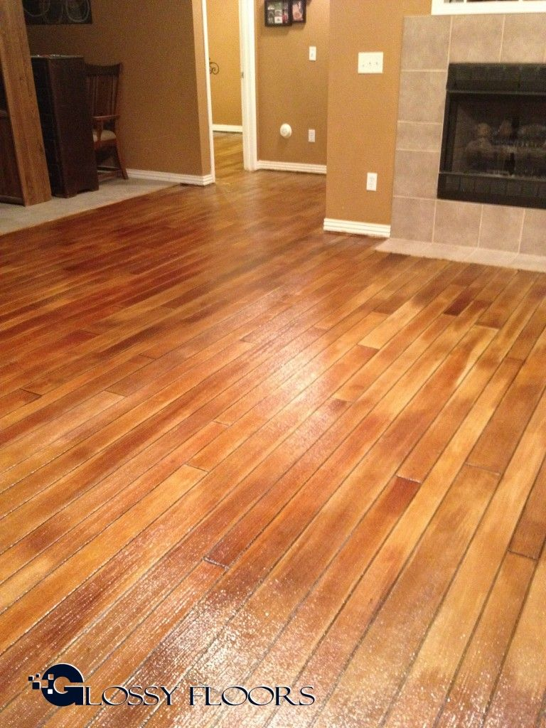 Concrete Floors That Look Like Wood Favorite Interior Floors And More Pinterest Concrete