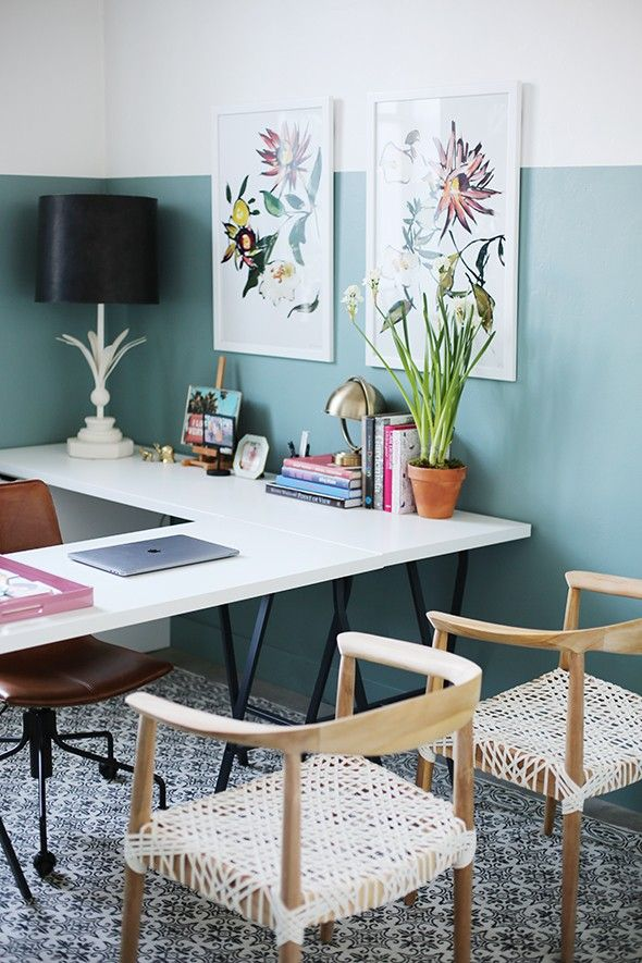 Home Design Minimalist Modern Pavilion Addition Green Interior Design Ideas: Office Makeover With BEHR's 2018 Color Of The Year
