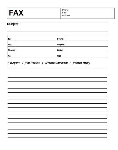 Free Printable Fax Cover Sheet Template Word – Fax Cover Sheets Template