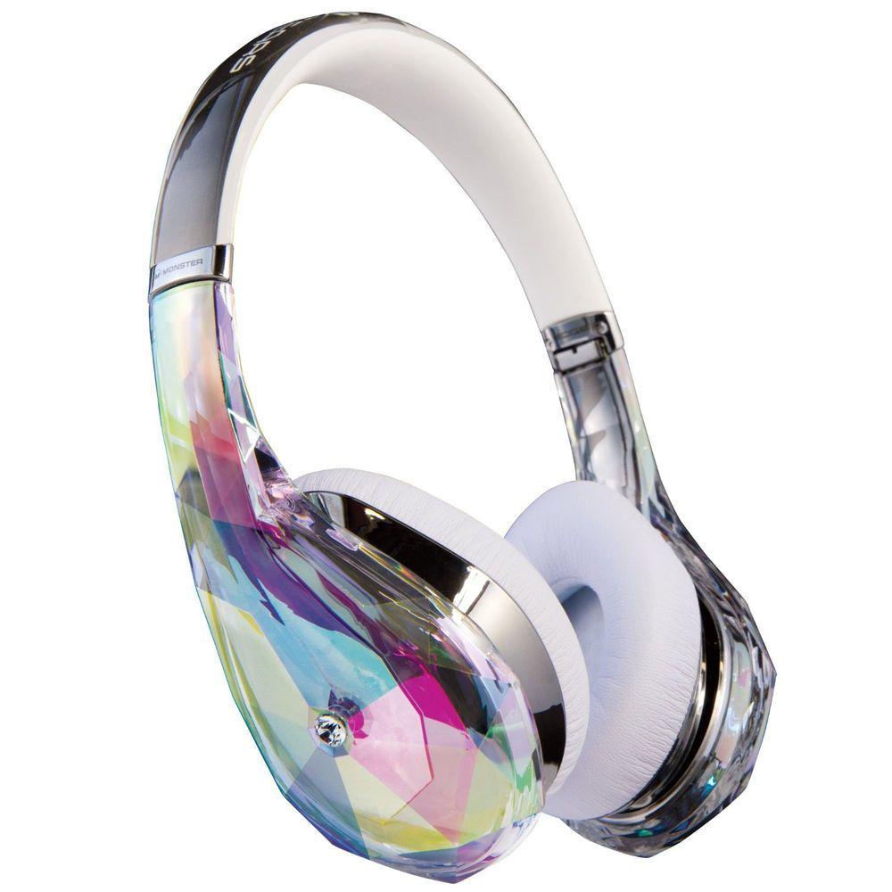 Monster Diamond Tears Edge Headphones - Clear 2798ff5f5c