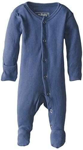 75fe7ec7d Baby Girl Clothes L'ovedbaby Unisex-Baby Organic Cotton Footed Overall,  Slate,