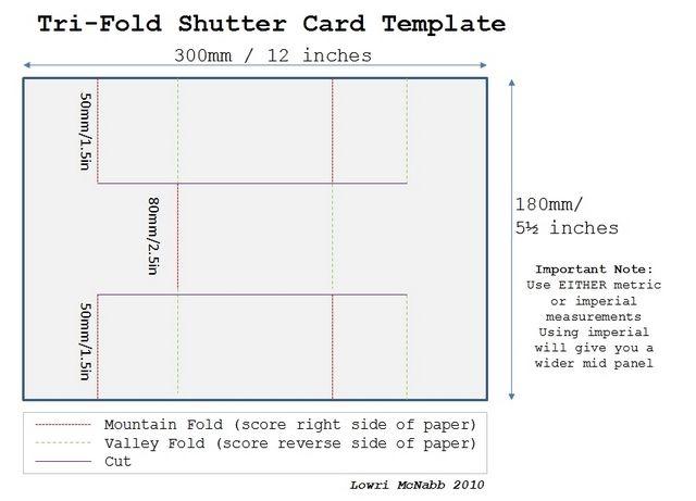 Tri Fold Shutter Card Template Tri Fold Cards Trifold Shutter