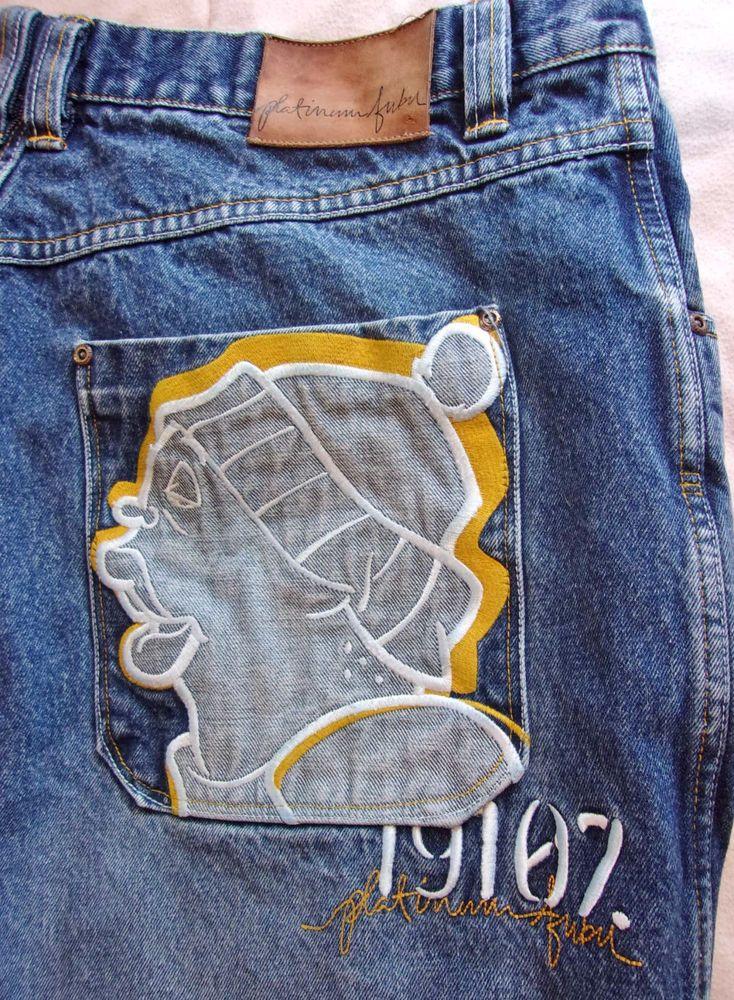 2001 Platinum FUBU Baggy Loose Mens Jeans 40