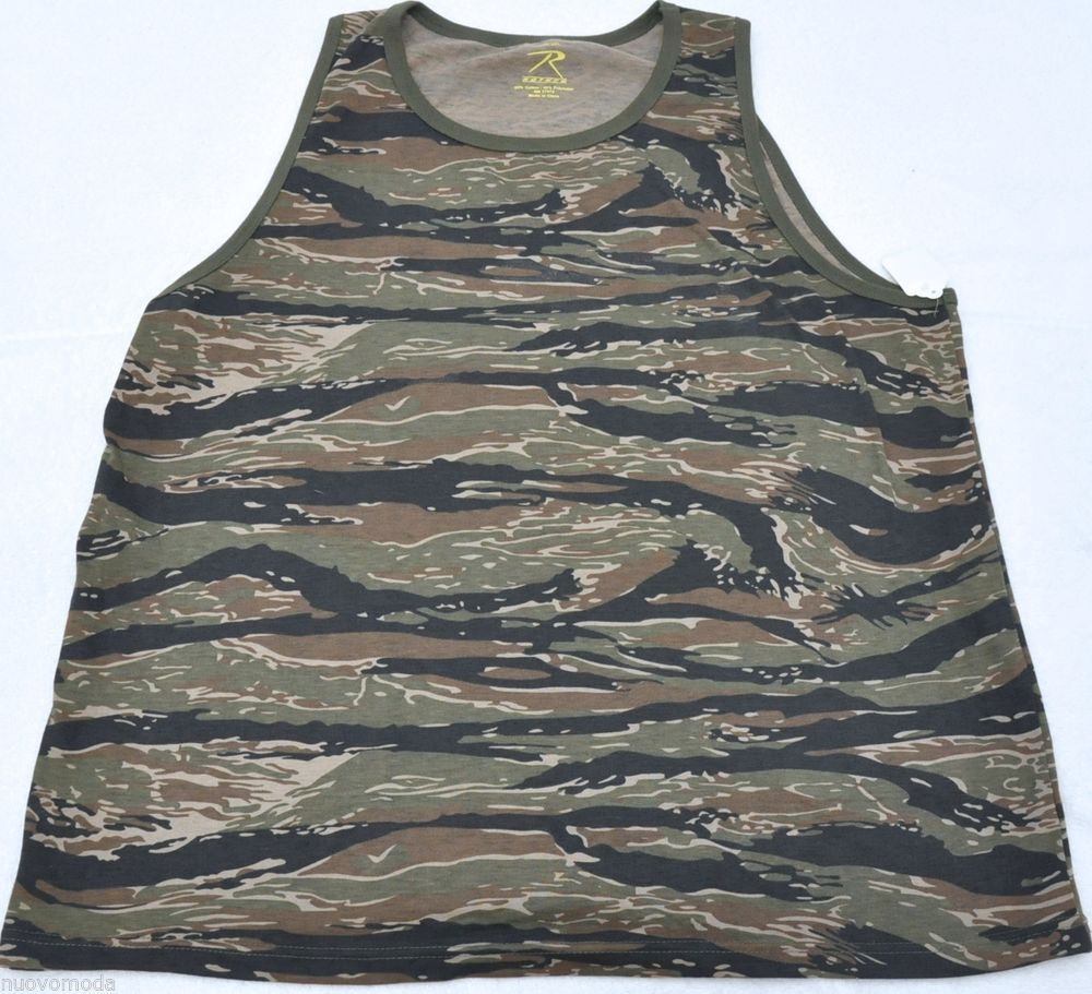 d9da4f6cbd9 Details about Camouflage Tactical Military Top Army Camo Tank Top ...