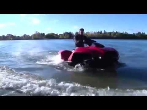 Quadski: converts from jet ski to ATV in 4 seconds - orders starting soon at 40k per unit
