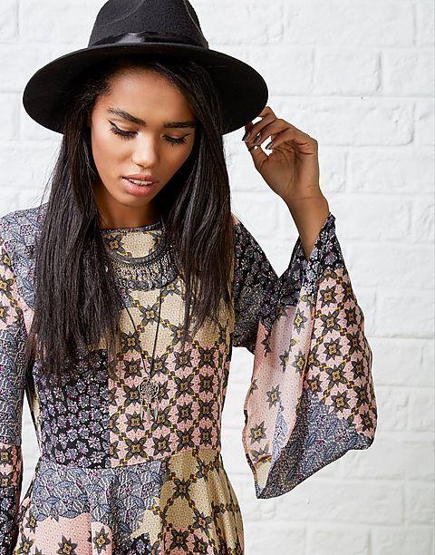 #ARKLOVES Glamorous Camden Folk Dress #patchprint #swingdress #glamorous #70s