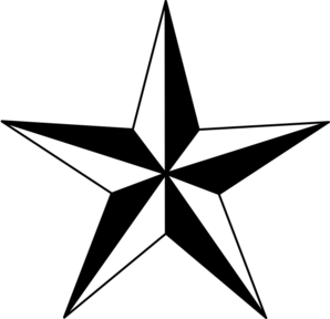 star clipart black white black nautical star clip art vector
