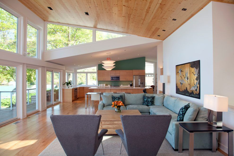 Modern Butterfly Roof Living Room Contemporary With Sloped Ceiling Endearing Ceiling Modern Design For Living Rooms Inspiration