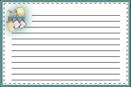 Free printable recipe cards Lots to choose from Sewing And - index card template