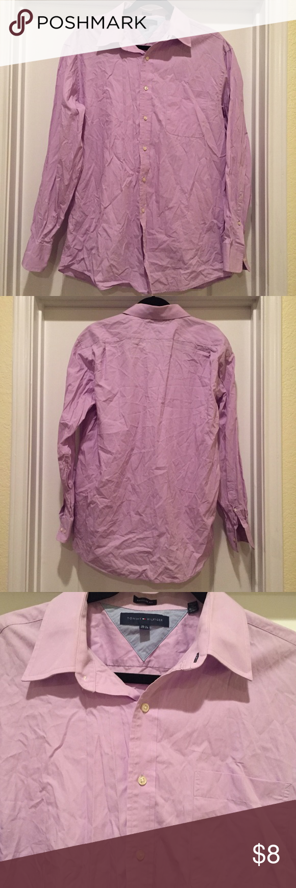 Tommy Hilfiger lavender shirt. 16.5 neck Tommy Hilfiger lavender shirt. 16.5 neck Tommy Hilfiger Shirts Casual Button Down Shirts