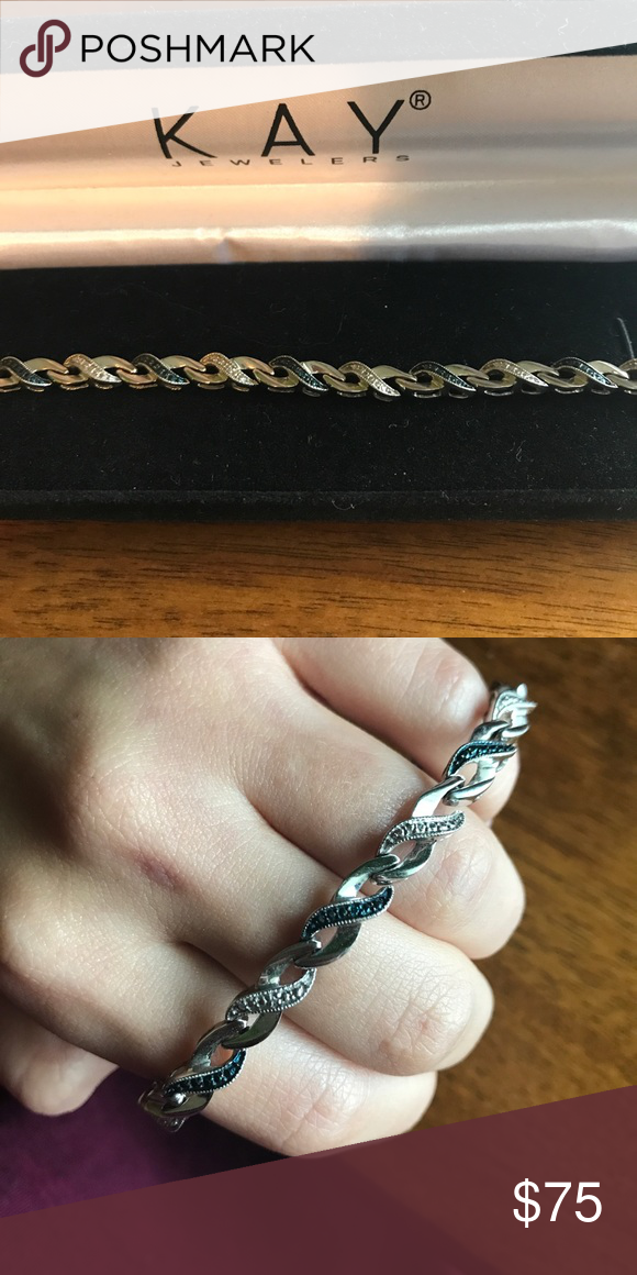 044ef737f Kay Diamond Bracelet Worn once - was a gift! Blue and white diamond!  Perfect condition! Box included Kay Jewelers Jewelry Bracelets