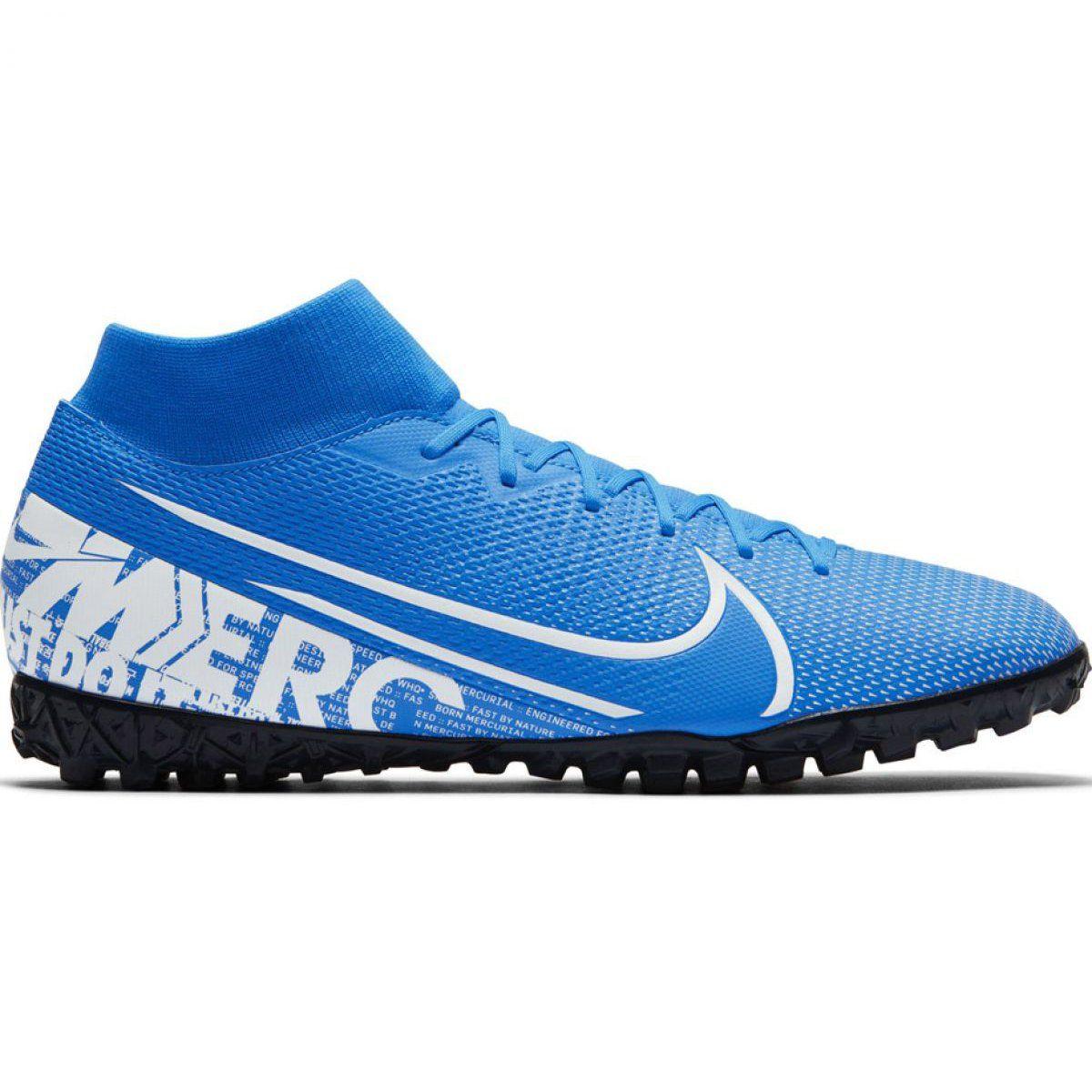 Buty Pilkarskie Nike Mercurial Superfly 7 Academy M Tf At7978 414 Niebieskie Wielokolorowe Mens Football Boots Football Shoes Nike