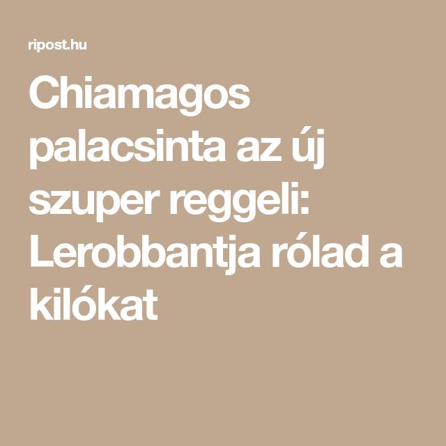 Chiamagos palacsinta az új szuper reggeli: Lerobbantja..