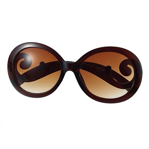 e895582ed7a real brown prada like sun glasses uber class brown sunglasses with the p  curl on the
