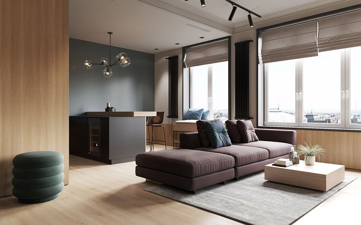 The living room is one of the most important areas in your house for a great hosting experience. Interior Design Using Moody Colours And Natural Materials ...