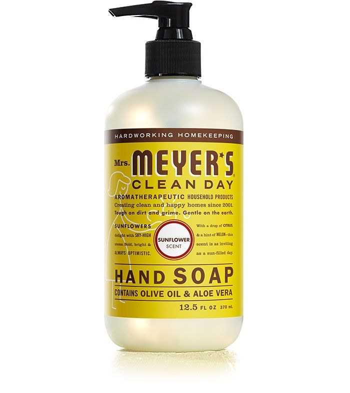 Mrs Meyer S Clean Day Liquid Sunflower Hand Soap Contains Aloe