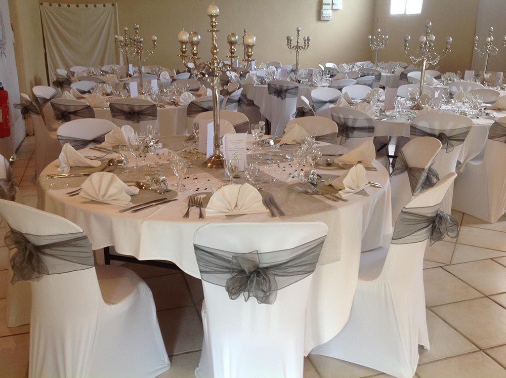 Decoration gris et 1000 747 mariage blanc pinterest - Buffet blanc et gris ...