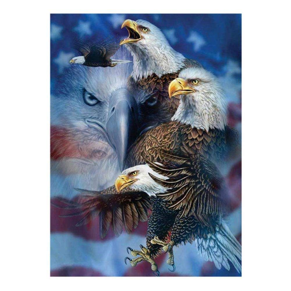 Full Drill 5D Diamond Painting kit Cross Stitch Embroidery Decor Scenery Eagle