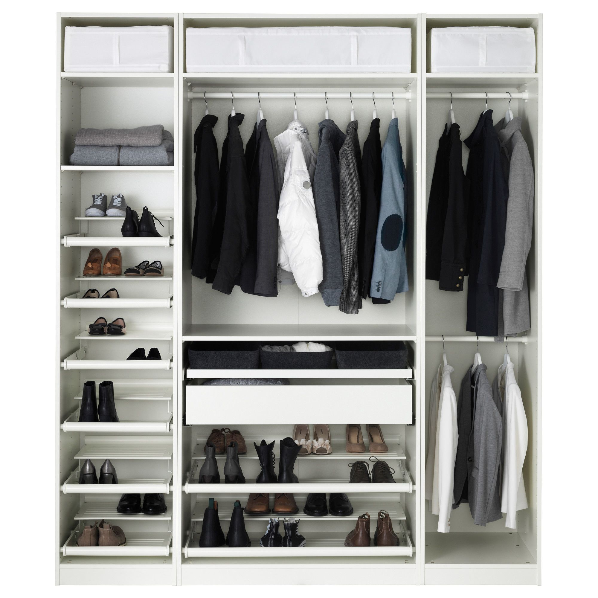 Hemnes Wardrobe With 2 Sliding Doors White Stain Ikea Closet Systems Walk In Closet39s T Armario Ropero