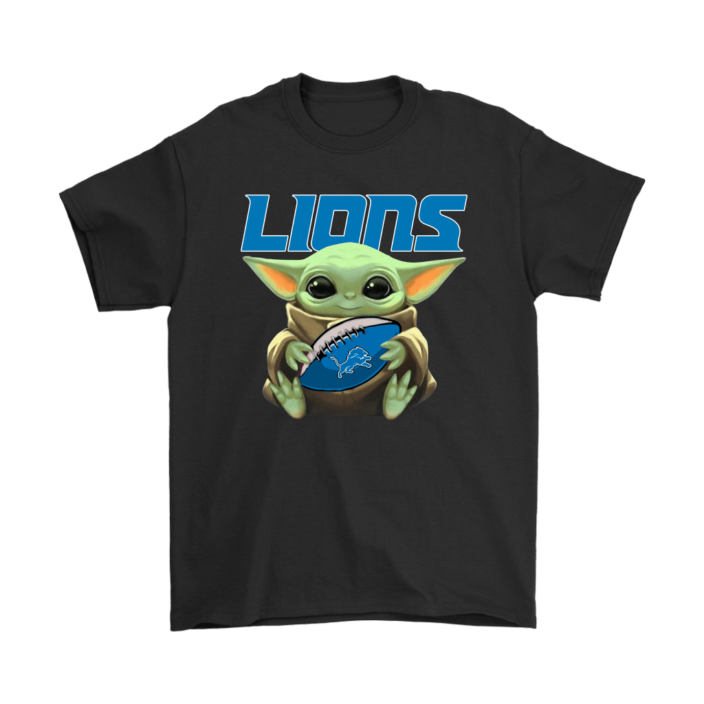 Baby Yoda Loves The Detroit Lions Star Wars Nfl Shirts Snoopy Facts Snoopy T Shirt Nfl Shirts Nfl T Shirts