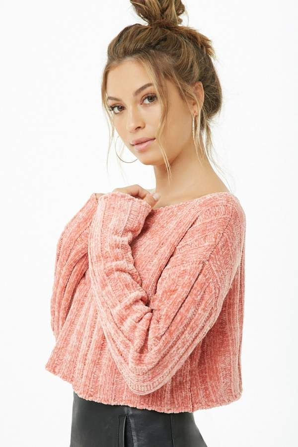 Forever 21 Cropped Chenille Sweater#affiliatelink | Chenille