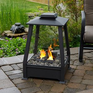 Sierra Black Outdoor Gel Fuel Fireplace Home Garden Pinterest