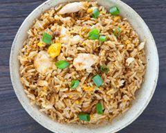 Riz aux restes de poulet rôti et aux épices