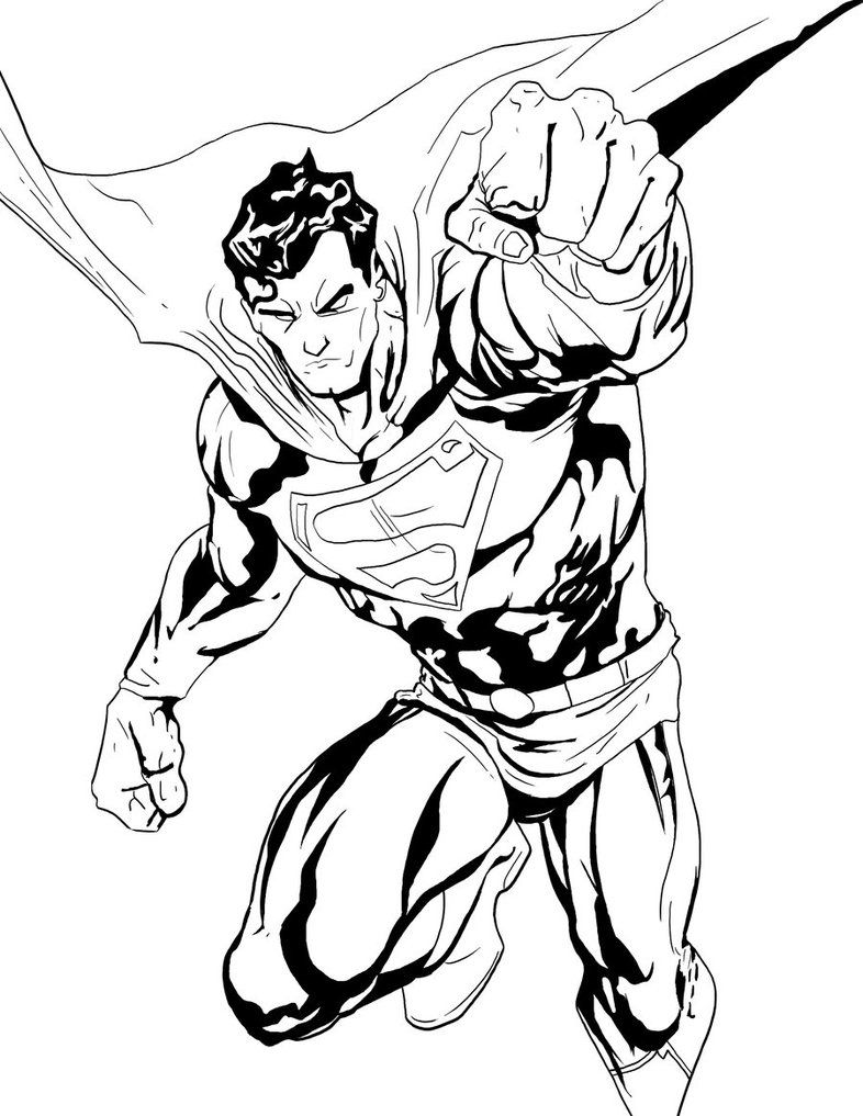 Superman By Philliecheesie Superman Coloring Pages Dc Comics Art Coloring Pages