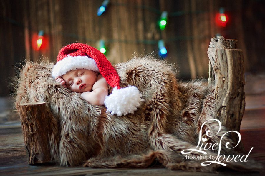 Photo of Download PDF CROCHET PATTERN – Little Santa hat, diaper cover and mini-blanket