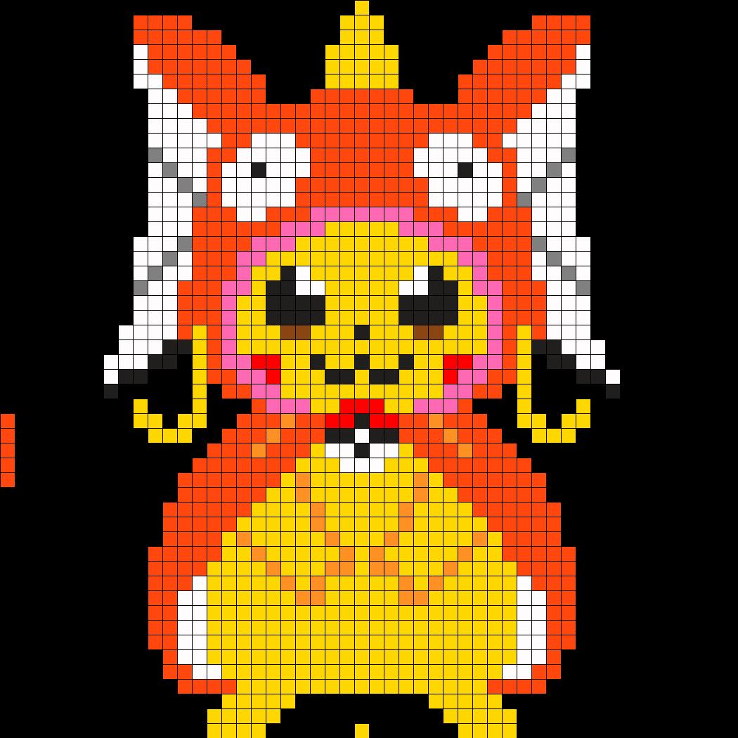 Large_magicarp_pikachu_perler by Crazychick509 on Kandi Patterns ...