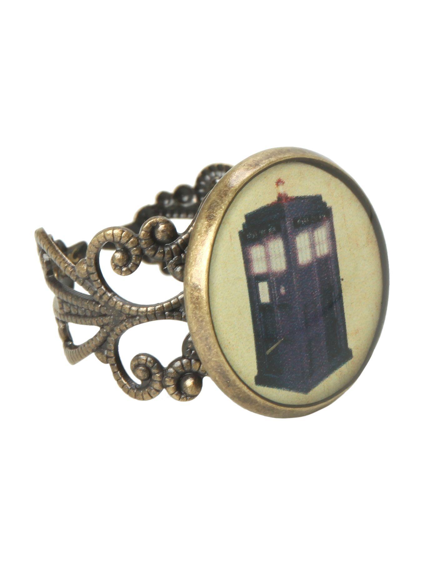 Doctor who tardis ring hot topic tardis ring circle