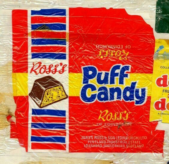 Scottish Confectionery Memorabilia: Ross's Puff Candy | Childhood ...