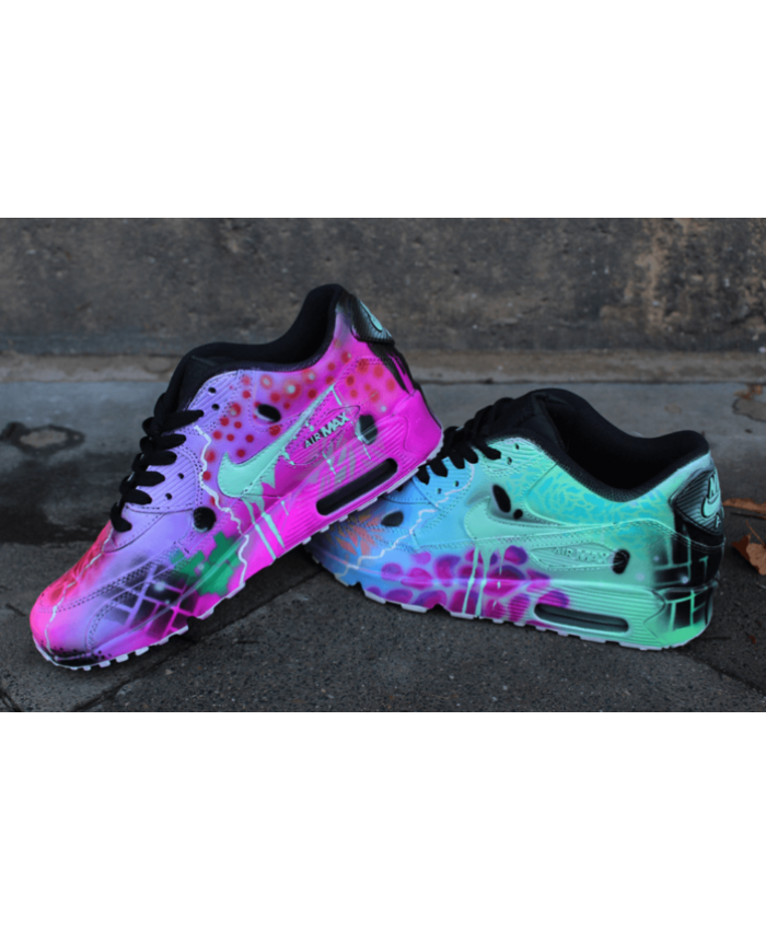 cheaper ea963 9ac12 Nike Air Max 90 Candy Drip Lovely Pink Green Trainer