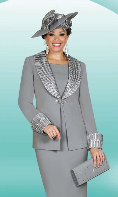 women's church suits and hats | Ladies Dress Suit, Hat and Purse ...
