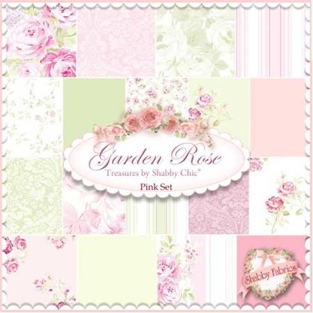 Pleasing Fabric Garden Rose 18 Fq Set Pink Rachel Ashwell For Home Interior And Landscaping Synyenasavecom